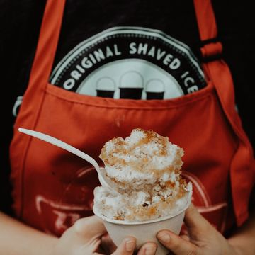 Tres Leches Stuffed Snoball image