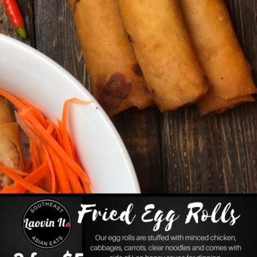 Fried Chicken Egg Rolls