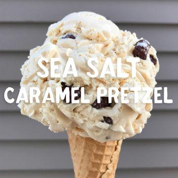 Sea Salt Caramel Pretzel Ice Cream