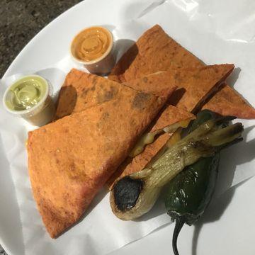 Quesadilla Filled w/ Chicken Fajita
