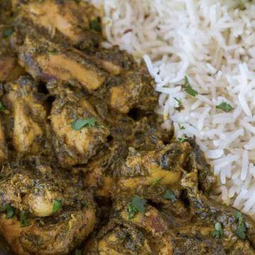 Saag Chicken w/ Rice