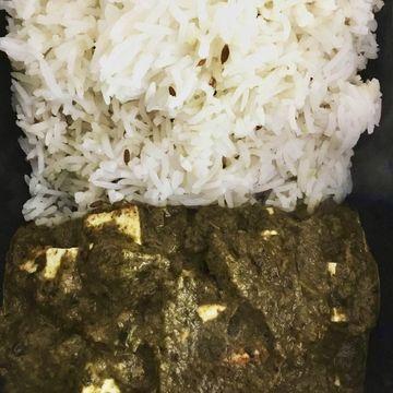 Saag Paneer w/ Rice