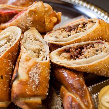 Crab Stuffed Pretzel Log