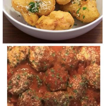 Combo Meatball Marinara + fried Garlic Bread