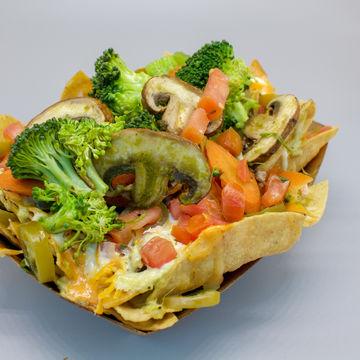 Grilled Veggie Nachos