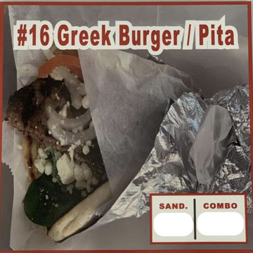 Greek Burger Wrap in Pita Bread  image