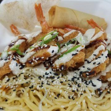 Ginger Citrus Crispy Shrimp Noodles