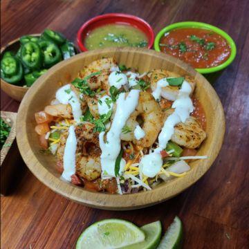Grilled Shrimp Burrito Bowl