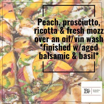 Peach 🍑  & Prosciutto Pizza Special